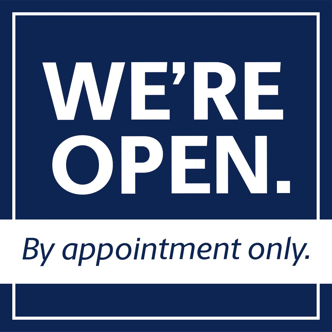 open by appointment only